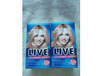 2x Brand New XXL Cool Rose hair dye. 2 in 1 lightener and pastel colour in each box