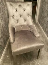 Crushed velvet occasional chair
