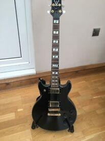 Ibanez AR250 SG-style electric guitar, Black - pristine.