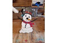 Christmas Snowman bird box