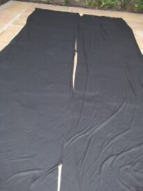 3 Large Pieces of Black Trevira Material - £5.00 each