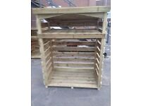 Rosettes Heavy Duty Pressure Treated Wooden Log Store - Delivered cheap