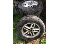 "Range Rover p38 18"" wheels with tyres"