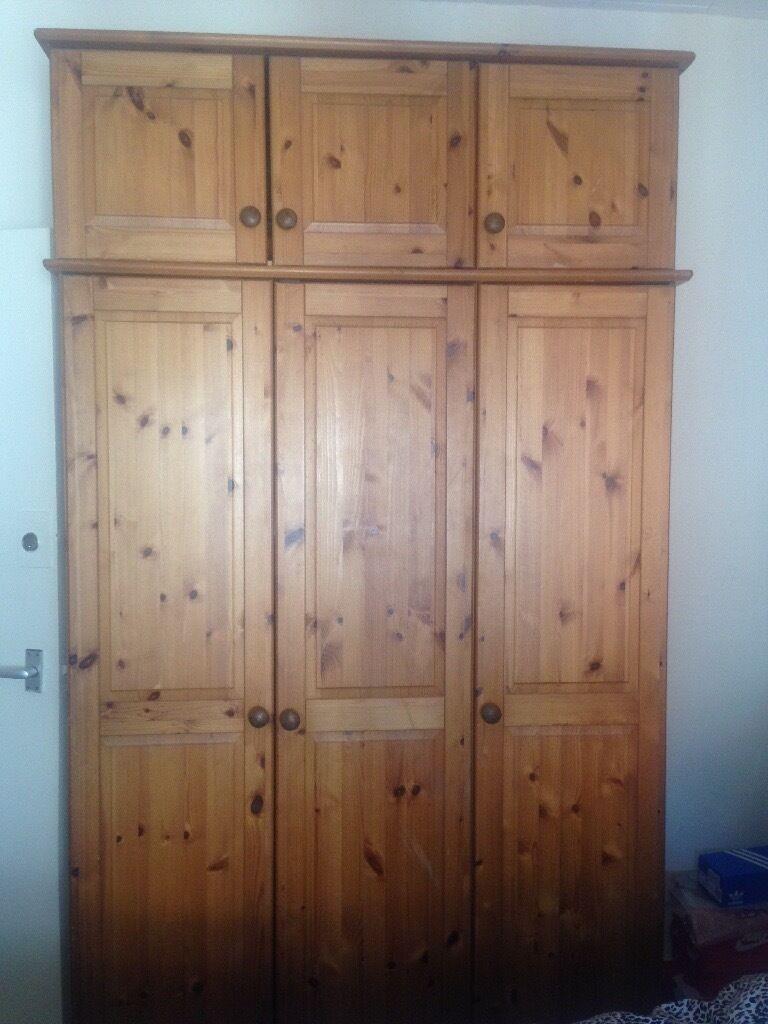 Double pine wardrobe
