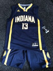 New NBA jersey and shorts