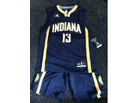New NBA jersey and shorts