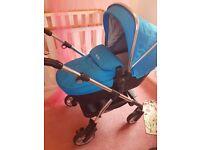 Silvercross Wayfarer, Sky Blue Pram and Car Seat