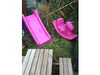 Small slide and rocking horse