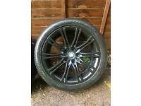 "18"" BMW MV2 Alloys with tyres 5x120"