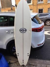 Slightly damaged surfboard and bag for sale £50