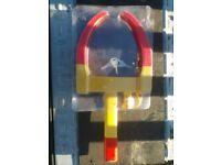 Security Wheel lock / clamp for car, caravan, trailer, horsebox, motorhome, campervan etc