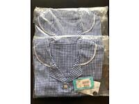 Brand new M&S blue school summer dresses still in the bags with tag on