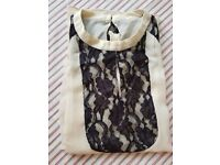 New Womens Long Seelves Lace High Neck Top,unbranded,