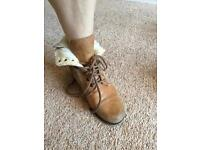 Real Tan Leather Boots