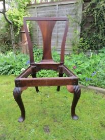 Antique George IV mahogany chair - Unfinished restoration project.