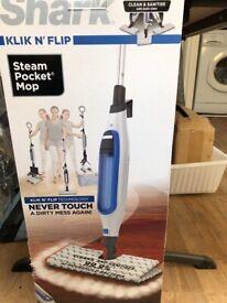 Brand New, boxed, Shark Klik N Flip Steam Mop