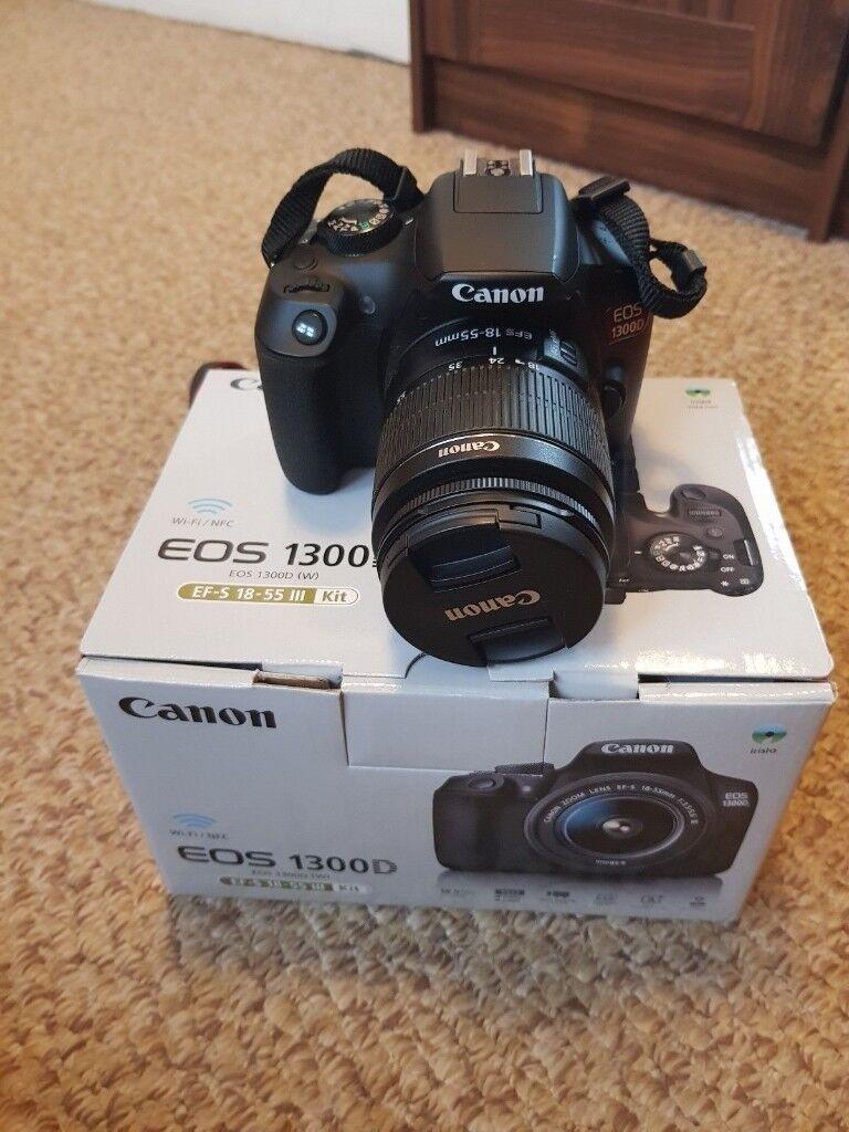 Canon Eos 1300d 18mp Slr Camera Kit With Ef S 18 55mm Dc Iii Sensor Digital Lens Is Ii
