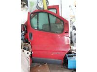 Vauxhall Vivaro Doors - Driver, Passenger and Side Loading Door for 2002/10