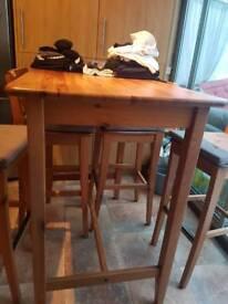 Ikea leksvik bar table solid wood