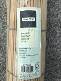 Bamboo roll-up blind