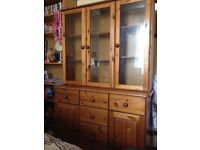 Wooden cabinet, glass fronted £25 quick sale