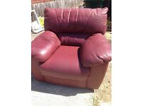 Free - leather armchair
