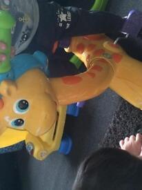 Vetch sit and ride giraffe