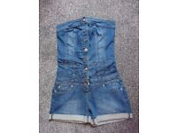 New denim bandeau jumpsuit/playsuit from New Look size 8