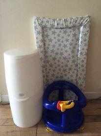 Nappy Bin,Bath Seat,Changing mat