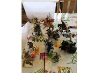 Selection of Schleich horse and knight figurines