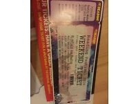 Weekend Reading Ticket with Camping For Sale
