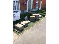 Free - Various sized paving slabs.