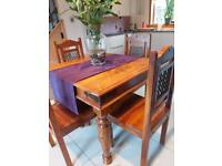 Indian Sheesham Table & Chairs