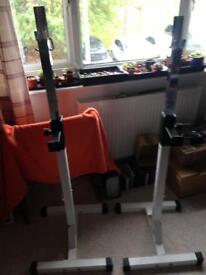 Squat rack/ bench rack