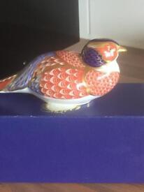 Royal crown derby pheasant