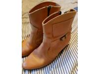 Genuine Levi Leather Cowboy Boots size 10