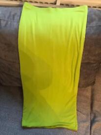 Lime green long warm skirt
