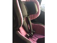 Recaro 9m-4yr optia hero purple car seat and base isofix