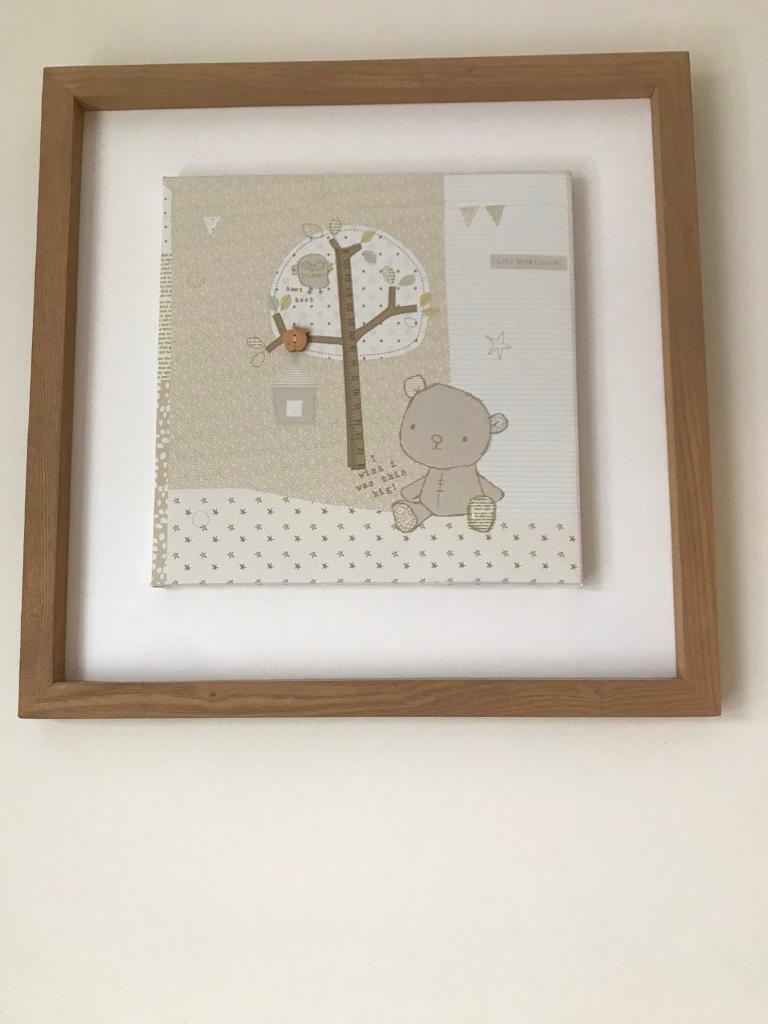Oak framed Picture for Baby Nursery