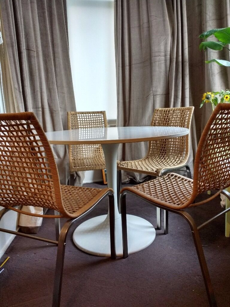Ikea Dining Chairs Modern Steel Frame Woven Seat 163 30 For