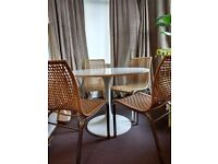 Ikea Dining Chairs modern steel frame, woven seat £30 for 4
