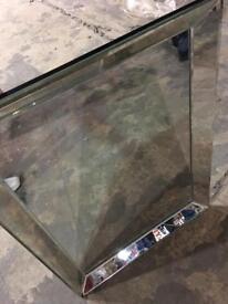 Glass mirror.