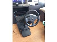 Ps4 thrustmaster t80 wheel + pedals + great racing stand ideal for vr