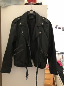 Size 16 Superdry real leather jacket