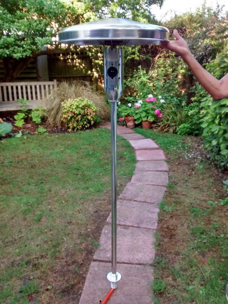 Table Mounted Patio Heater Keep Eating In The Garden Even With Cooler Nights