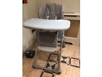 High Chair - grey chicco
