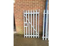 Galvanissed pedestrian gate and side fence panels