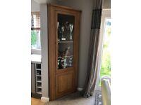Solid Oak Corner Cabinet