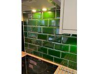 Wall tiles green 132 ofMetro Victorian 10x20cm