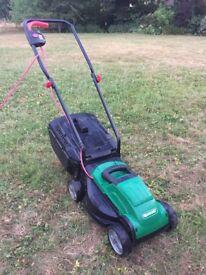 Electric lawnmower, 32cm cutting width